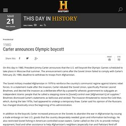 Carter announces Olympic boycott - Mar 21, 1980