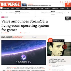 Valve announces SteamOS, a living-room operating system for games