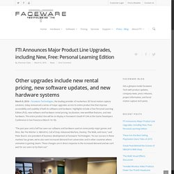 FTI Announces Major Product Line Upgrades, including New, Free: Personal Learning Edition - Faceware Tech