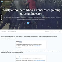 announces Khosla Ventures is joining us as an investor - storify.com