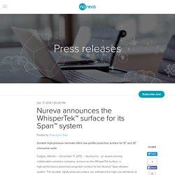 Nureva announces the WhisperTek™ surface for its Span™ system