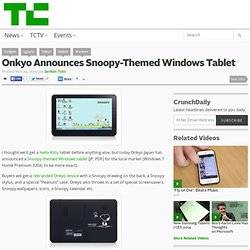 Onkyo Announces Snoopy-Themed Windows Tablet