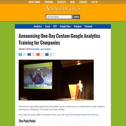 Announcing One-Day Custom Google Analytics Training for Companies - Annielytics.com