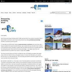 Announcing ArchDaily Brasil