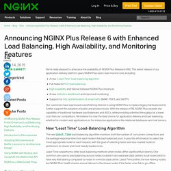 Announcing NGINX Plus Release 6 with Enhanced Load Balancing, High Availability, and Monitoring Features