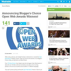 Announcing Blogger's Choice Open Web Awards Winners!