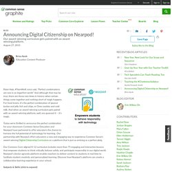 Announcing Digital Citizenship on Nearpod!