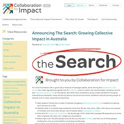 Announcing The Search: Growing Collective Impact in Australia