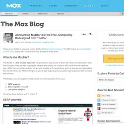 Announcing MozBar 3.0: the Free, Completely Redesigned SEO Toolbar