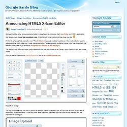 Announcing HTML5 X-Icon Editor - Giorgio Sardo Blog