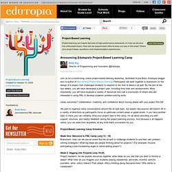 Announcing Edutopia's Project-Based Learning Camp | Edutopia Group Discussions by and for Educators