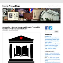 The National Emergency Library