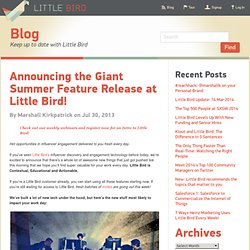 Announcing the Giant Summer Feature Release at Little Bird!