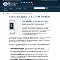 Announcing the CVE Grants Program