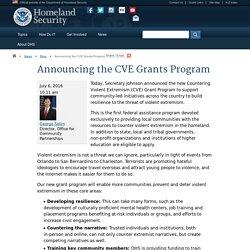 Announcing the CVE Grants Program
