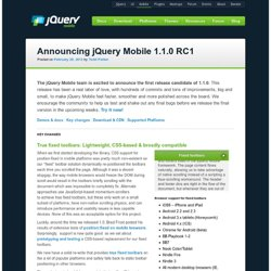 Announcing jQuery Mobile 1.1.0 RC1