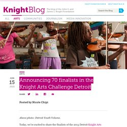 Announcing 70 finalists in the Knight Arts Challenge Detroit