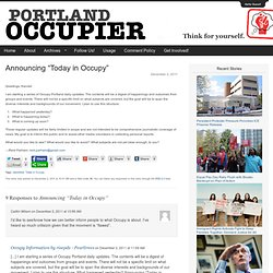 """Announcing """"Today in Occupy"""""""