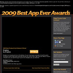 2009 Best App Ever Awards :: Announcing the winners in the Best Productivity Enhancer category