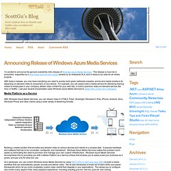 Announcing Release of Windows Azure Media Services