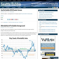 Seattle Bubble • local real estate news, statistics, and comment