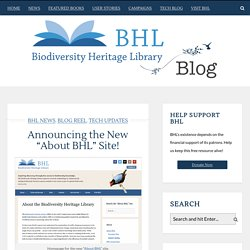 """Announcing the New """"About BHL"""" Site!"""