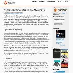 Announcing Understanding ECMAScript 6 - NCZOnline