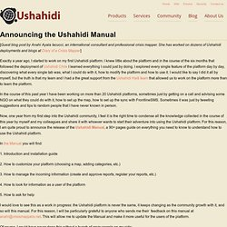 Announcing the Ushahidi Manual