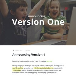Announcing Version 1