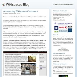 Announcing Wikispaces Classroom