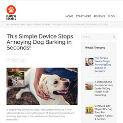 This Simple Device Stops Annoying Dog Barking in Seconds!