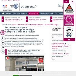 De nouveaux espaces d'apprentissage au collège Compère Morel de Breteuil