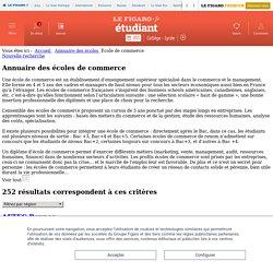 Annuaire des écoles de commerce – Le Figaro Étudiant