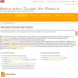 Annuaire Doulas de France – Association Doulas de France