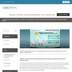 Annuaire de santé éthique - communiqué de presse