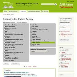 Annuaire des Fiches Action