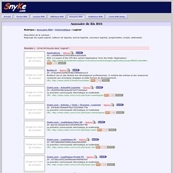 Annuaire RSS - Flux RSS Logiciel - RSS feed/feeds