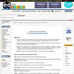 Annuaire presse - Liste journaux, journalisme et agences de presse