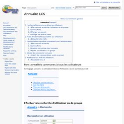 Annuaire LCS
