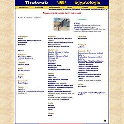 Annuaire des musées égyptologiques