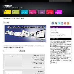 Annuaire des régies internet et mobile en France