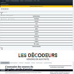 L'annuaire des sources du Décodex: mode d'emploi