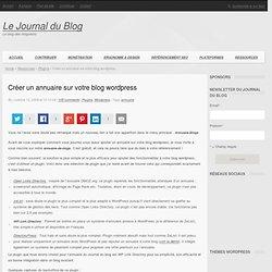 Créer un annuaire sur votre blog wordpress