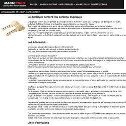 Les annuaires et le duplicate content - article par Magicprog.fr