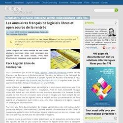 Les annuaires français de logiciels libres et open source de la rentrée par