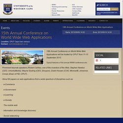 15th Annual Conference on World Wide Web Applications
