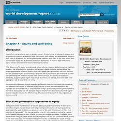 World Bank's annual World Development Report (WDR)