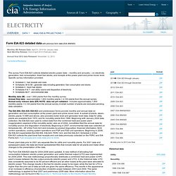 Annual Electric Utility Data – EIA-906/920/923 Data File
