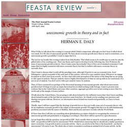 The First Annual Feasta Lecture, by Herman Daly