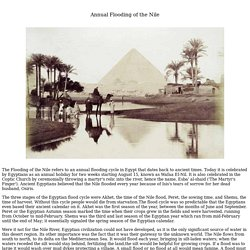 Annual Flooding of the Nile